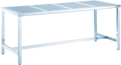 TRUSCO パンチングテーブルSUS304 1800X700 ヘアーライン PTH1870/1台【4588550】