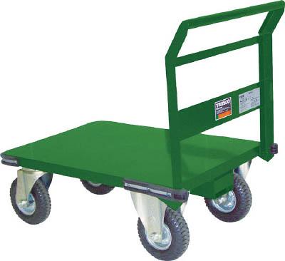 TRUSCO 鋼鉄製運搬車 プレス製空気入タイヤ付 1200X600 SH2LNAR/1台【4650611】