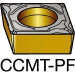 サンドビック コロターン107 旋削用ポジ・チップ 5015 CCMT 09 T3 04PF(OP:5015)/10個【6077862】