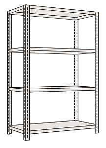 サカエ 軽量開放型棚ボルトレス KF1344 【個人宅配送不可】