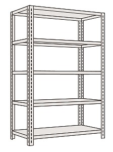 サカエ 軽量開放型棚ボルトレス KFF1545 【個人宅配送不可】