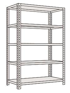 サカエ 軽量開放型棚ボルトレス KFF1745 【個人宅配送不可】