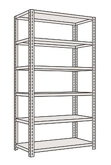 サカエ 軽量開放型棚ボルトレス KF2516 【個人宅配送不可】
