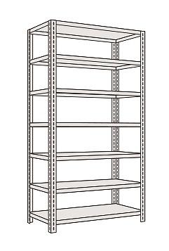 サカエ 軽量開放型棚ボルトレス KFF3547 【個人宅配送不可】