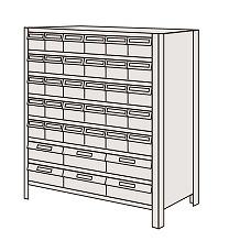 サカエ 物品棚LEK型樹脂ボックス LEK8118-36T