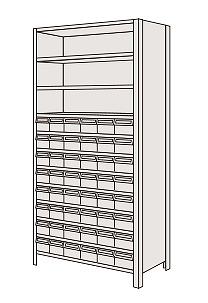 【個人宅配送不可】 LEK2112-48T サカエ 物品棚LEK型樹脂ボックス