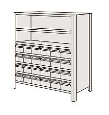 サカエ 物品棚LEK型樹脂ボックス LEK8127-24T 【個人宅配送不可】