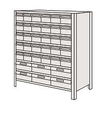 サカエ 物品棚LEK型樹脂ボックス LEK8128-36T 【個人宅配送不可】