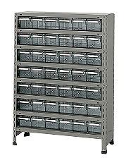 サカエ 物品棚LEK型樹脂ボックス LEK8128-42T