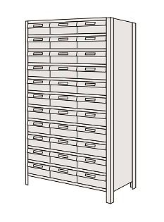 サカエ 物品棚LEK型樹脂ボックス LEK1122-33T