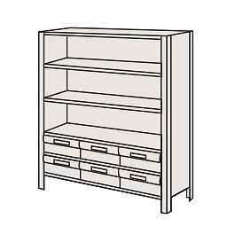 サカエ 物品棚LEK型樹脂ボックス LEK8116-6T 【個人宅配送不可】