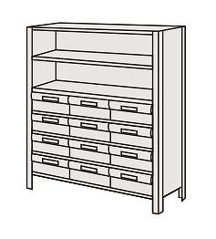 サカエ 物品棚LEK型樹脂ボックス LEK8117-12T 【個人宅配送不可】