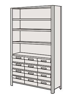 サカエ 物品棚LEK型樹脂ボックス LEK1119-12T 【個人宅配送不可】