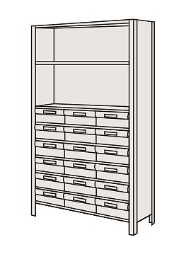 サカエ 物品棚LEK型樹脂ボックス LEK1119-18T 【個人宅配送不可】