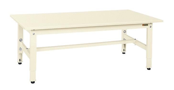サカエ 低床用軽量高さ調整作業台TKK4タイプ TKK4-127SI 【個人宅配送不可】