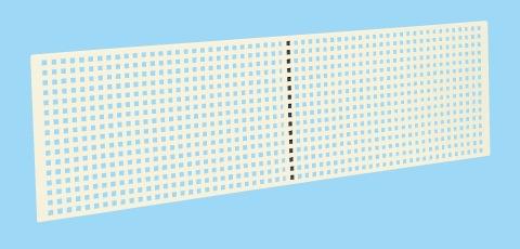 サカエ ラインシステム用オプション・パンチングパネル LSN-1200P 【個人宅配送不可】