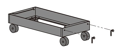 サカエ 中量ラックキャリー C-50支柱タイプ MD0990U 【個人宅配送不可】