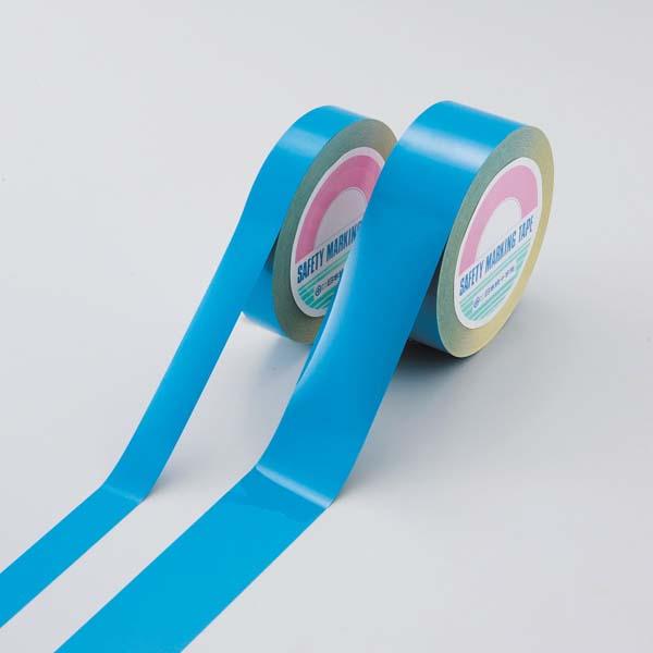 日本緑十字社 ガードテープ(再はく離タイプ) GTH-501BL 50幅×100m、厚み/0.2 (149035)