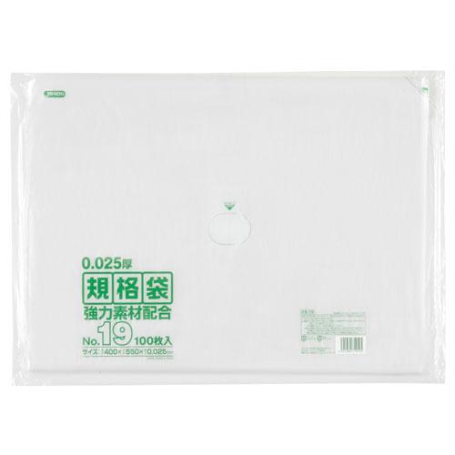 ジャパックス LD規格ポリ袋No.19 透明 KS-19 0.025×400×550mm[1500枚入]