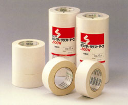 積水化学工業 ホワイティクラフトテープ No.500W(白色) 38mm×50m[60巻入]