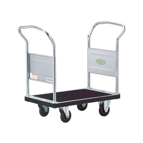 花岡車輌 エコ台車 環境適応モデル 両ハンドル サイレントキャスター UDHE-LD-MS
