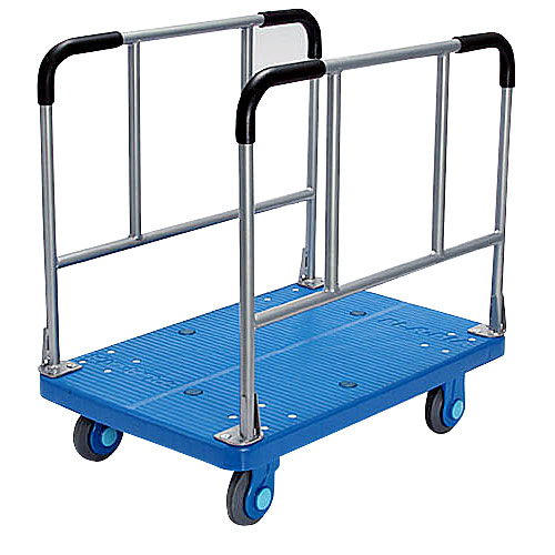 カナツー 静音(セイオン)長尺物運搬台車 PLA300-W 両袖ハンドル固定式