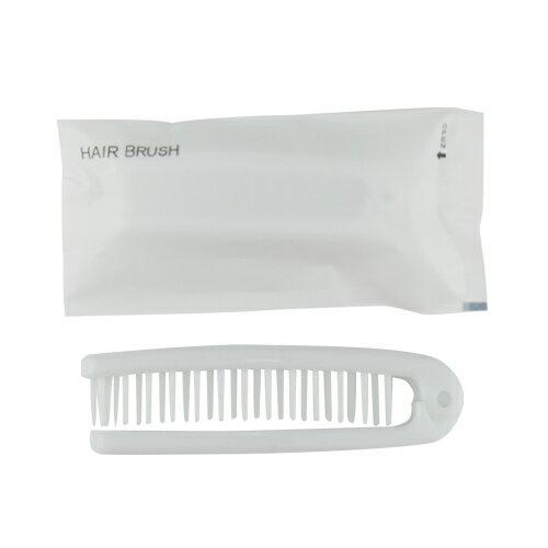 「あす楽対象」「ホテルアメニティ」「使い捨てヘアブラシ」「個包装タイプ」業務用 二つ折りスケルトンヘアーブラシ (FOLDING HAIR BRUSH)x500個セット 【smtb-s】