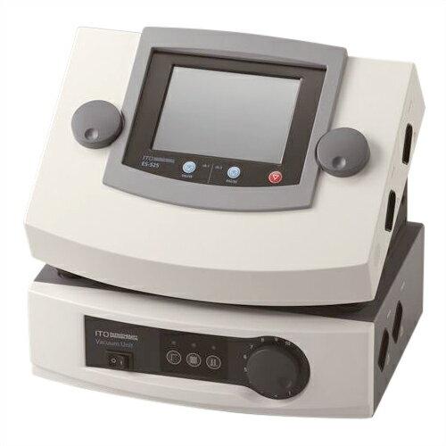 「低周波治療器・干渉電流型低周波治療器組合せ理学療法機器」伊藤超短波 3D刺激装置 ES-525 (本体+吸引装置1台) 【smtb-s】