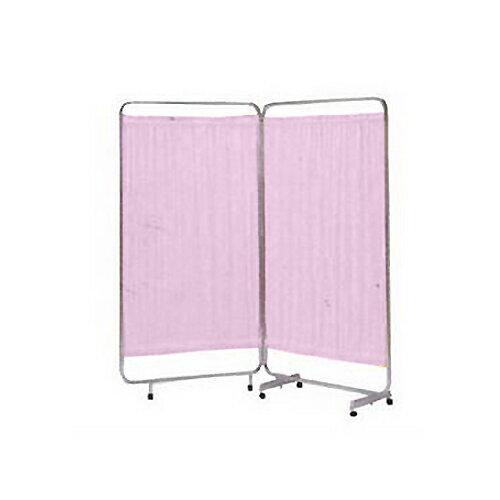 巾広衝立 NC-20型(二つ折 180x176cm) ピンク【smtb-s】