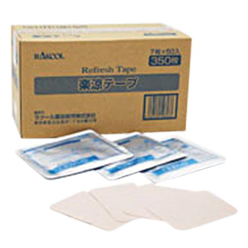 「貼付型リフレッシュテープ」ラクール薬品 楽涼テープ 7x10cm 7枚入り x50袋(合計350枚) 1ケース売り 【smtb-s】