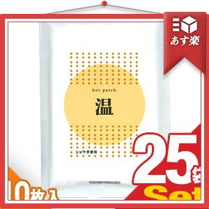 「あす楽対象」「ショウガ粉末使用」ホットパッチ 10x14cm(10枚入り) x25袋 【HLS_DU】