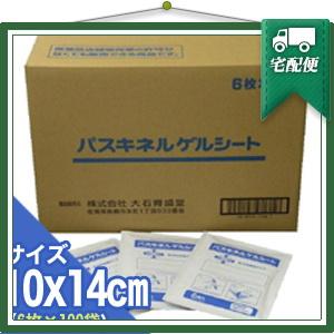 「貼付型冷却材」パスキネルゲルシート 10x14cm(1袋6枚入り) x100個(1ケース売り) 【smtb-s】