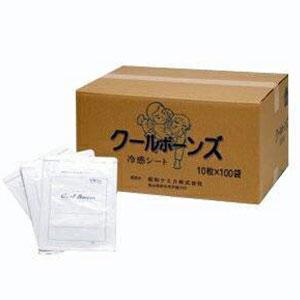 ☆「メントール配合湿布 」クールボーンズ10枚入りx100袋 (SI-339)【smtb-s】