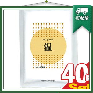 『ショウガ粉末使用』ホットパッチ 10x14cm(10枚入り) x40袋 【smtb-s】