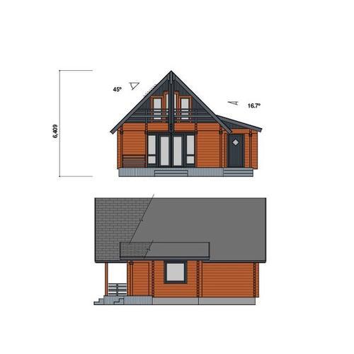 67da9cf33b911 楽天市場 ○サーリ(ログ厚113mm)折れ屋根が印象的なコンパクト3LDK ...