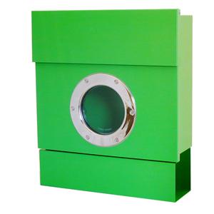【郵便ポスト】レターマン2 カラー(ライトグリーン):新聞受け付きで便利!RADIUSラーディウスデザイン(簡易レバー付)