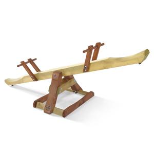 【配送先限定商品】欧州パイン屋外遊具 PLUM社木製シーソー