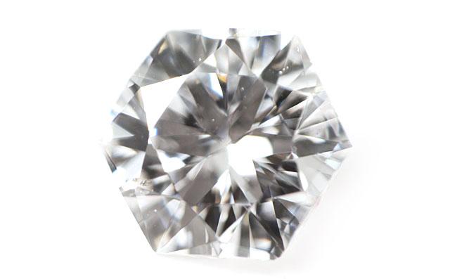 ヘキサゴン(六角形)ダイヤモンド ルース 0.295ct Eカラー, SI-1 【中央宝石研究所ソーティング袋付】【送料無料】