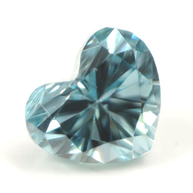 ブルーダイヤモンド (トリートメント) ルース(裸石) 0.047ct アイスブルー系 ハートシェイプ