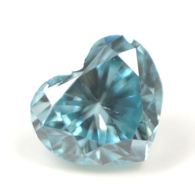 ブルーダイヤモンド (トリートメント) ルース(裸石) 0.041ct アイスブルー系 ハートシェイプ