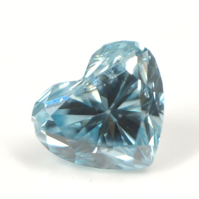 ブルーダイヤモンド (トリートメント) ルース(裸石) 0.044ct アイスブルー系 ハートシェイプ