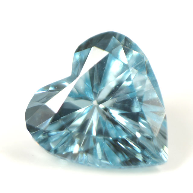 ブルーダイヤモンド (トリートメント) ルース(裸石) 0.046ct アイスブルー系 ハートシェイプ