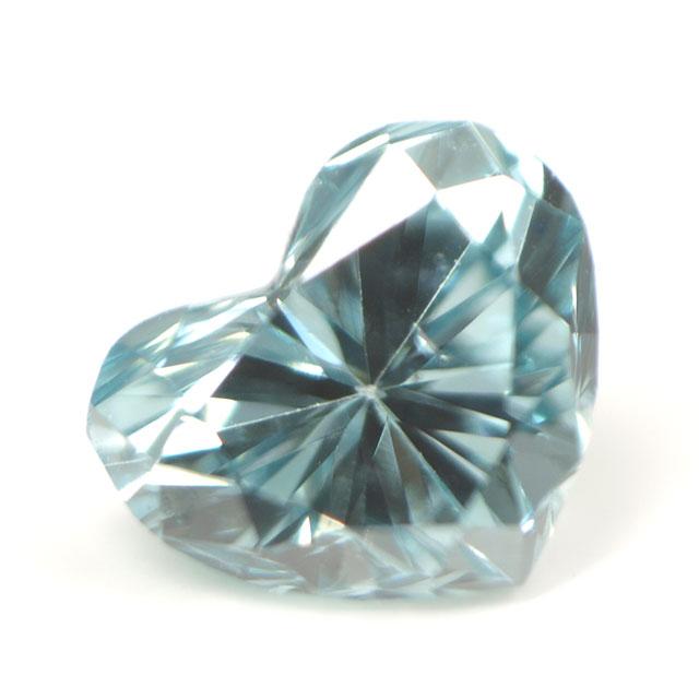 ブルーダイヤモンド (トリートメント) ルース(裸石) 0.045ct アイスブルー系 ハートシェイプ