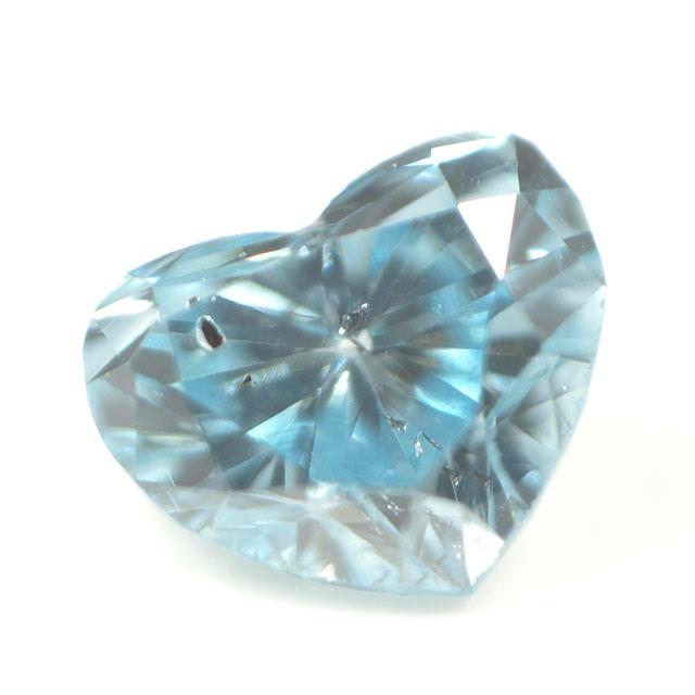 ブルーダイヤモンド (トリートメント) ルース(裸石) 0.049ct アイスブルー系 ハートシェイプ