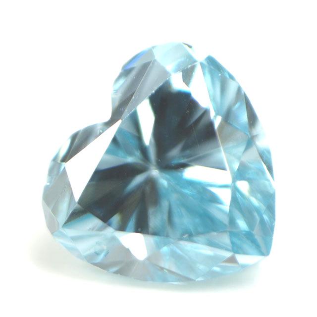 ブルーダイヤモンド (トリートメント) ルース(裸石) 0.048ct アイスブルー系 ハートシェイプ