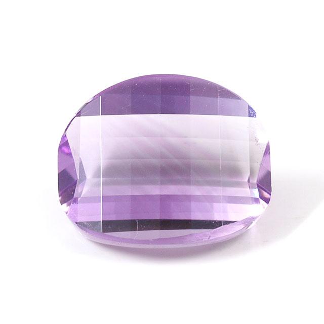 2月27日 10月2日の誕生日石 入手困難 2月の誕生石 アメジスト ルース 裸石 4.51ct オーバル系 アメシスト 紫水晶 バイカラー バイカラーアメジスト バイカラーアメシスト 宅送