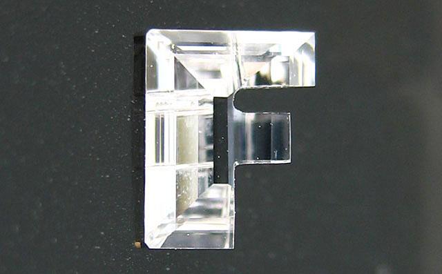 「F」字形 ダイヤモンド ルース 0.195ct, Eカラー, VS-1, 中央宝石研究所 イニシャルが「F」の方に。 【送料無料】