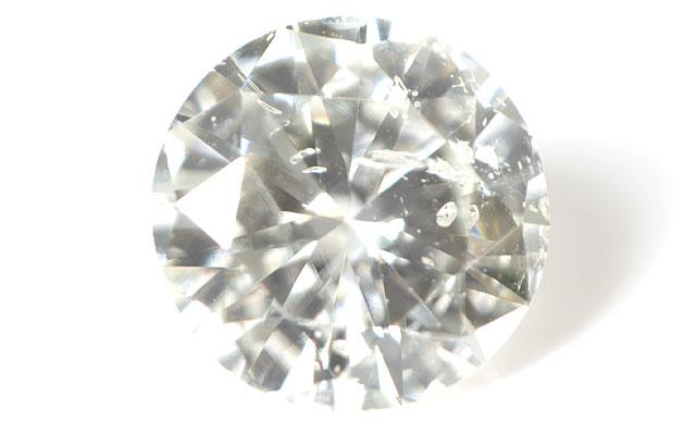 天然ダイヤモンド ルース 0.182ct 【他の鉱物と思われる結晶入り】 (ラウンド・ブリリアント・カット) 中央宝石研究所 【送料無料】【round010】【round015】【round020】