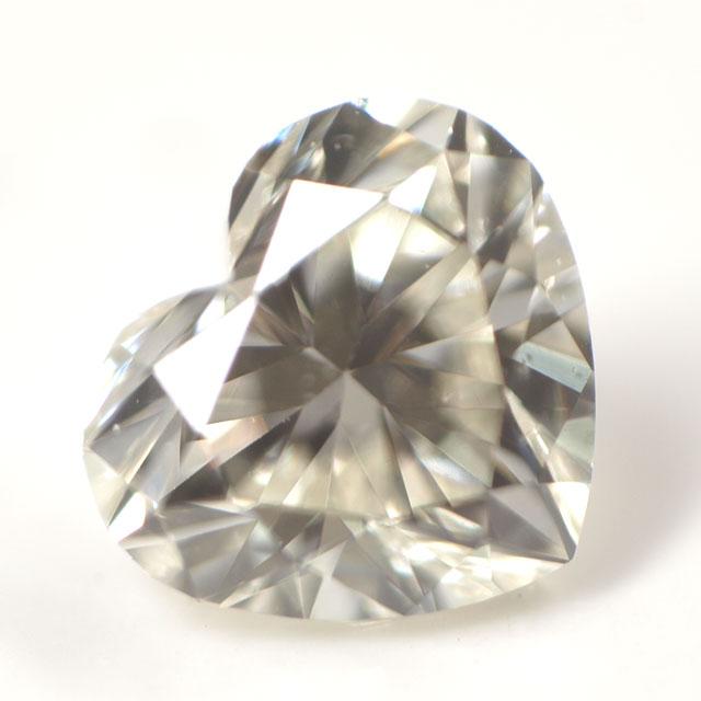 天然ダイヤモンド ルース(裸石) 0.086ct, Jカラー, VVS-2, ハートシェイプ 【 中央宝石研究所ソーティング袋付 】 【 送料無料 】