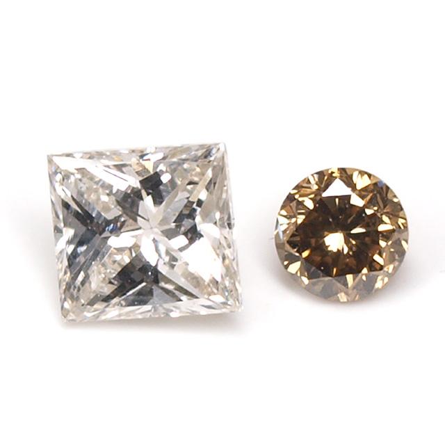 ダイヤモンド ルース(裸石) セット 0.097ct ( 2ピース合計 )